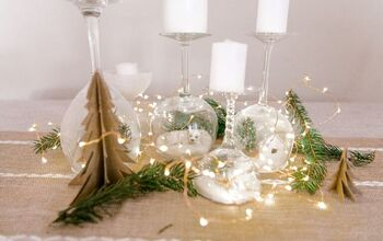 Wine Glasses Christmas Candle Holders