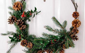 Step by Step Christmas Natural Wreath for FREE~