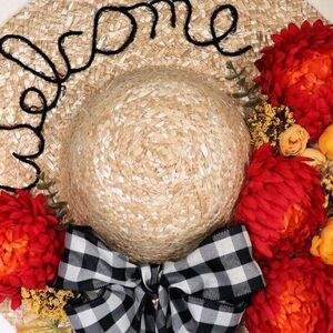 Straw Hat Wreath