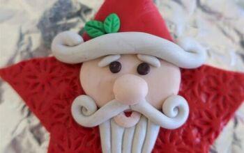 Star-Shaped Santa Ornament