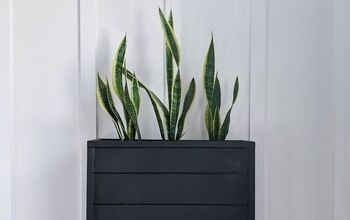 DIY Black Shiplap Planter