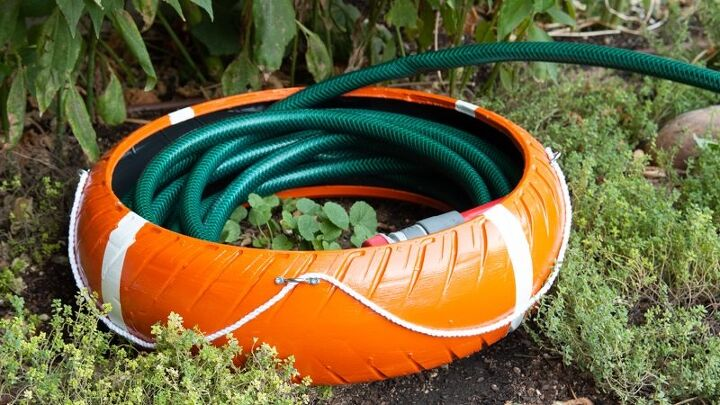 how to make a hose guard for the garden