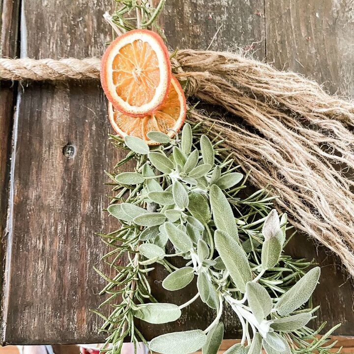 how to make a dried fruit herb garland