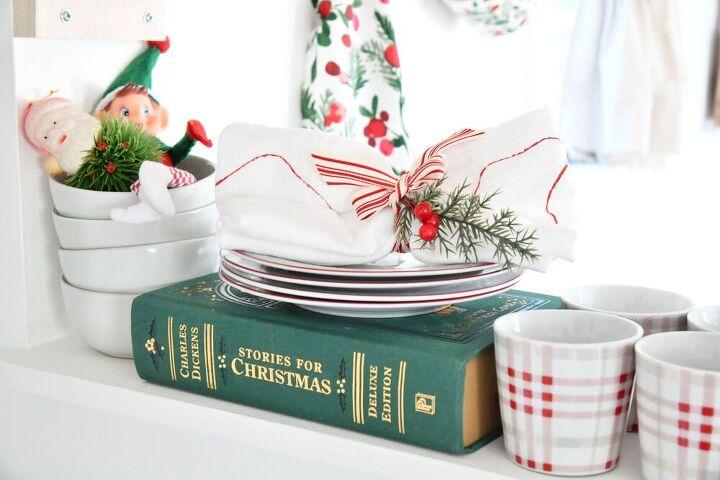diy christmas stamped tea towels