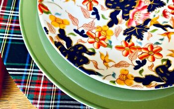Custom Holiday Charger Plates With Fabric