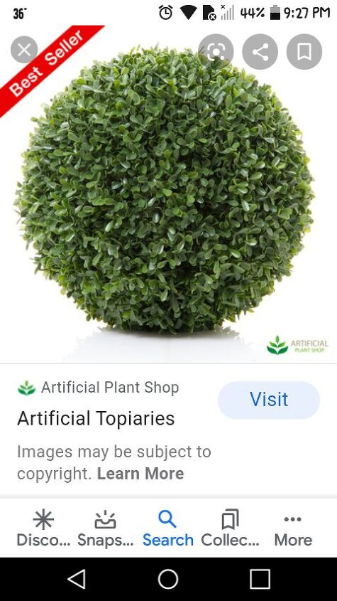 q how to make artificial round shrubs and topiay
