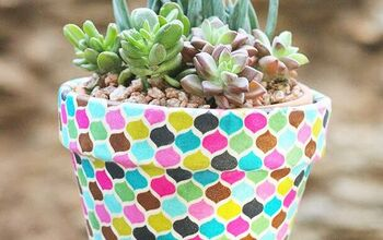How to Make DIY Fabric Wrapped Pots