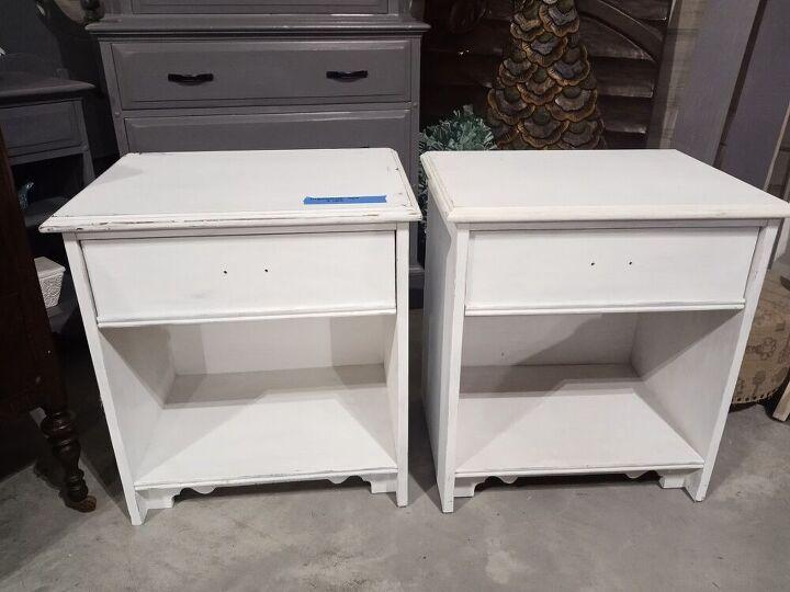 whitewashed nightstands