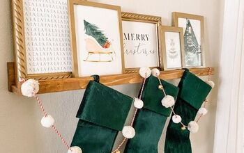How to Hang Stockings Without a Mantel - for Just $15!