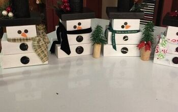 How to Make a Wooden Snowman