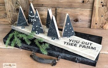 Whip up Affordable Decor With a Christmas Scrap Wood Tree Farm!
