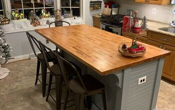 DIY Makeover : Butcher Block Top Kitchen Island