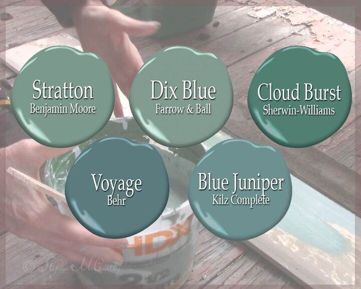blue green barnwood porch ceiling our twist on haint blue