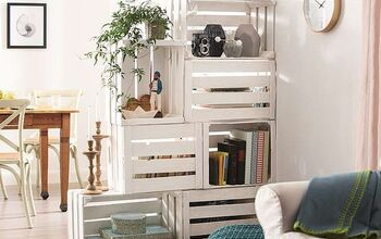 Room Dividers Made From Fruit Boxes