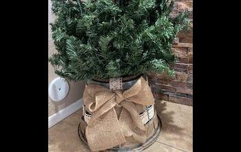 Dollar Store Basket Tree Skirt