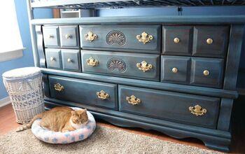 Blue Milk Paint Dresser