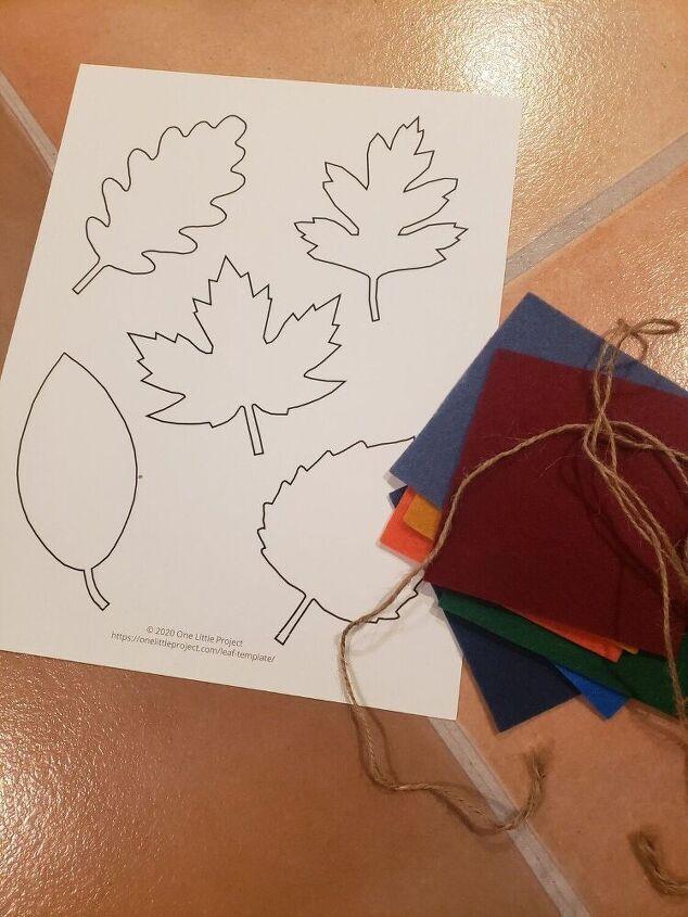 how i made fall garland with felt