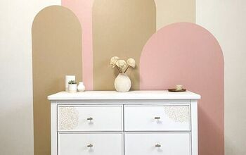 How to Make a Modern Arches Color Block Wall
