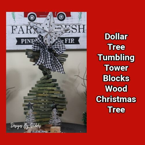 unique twist for a tumbling tower christmas tree