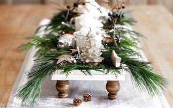 How to Make a Footed Tray and Style It for Christmas