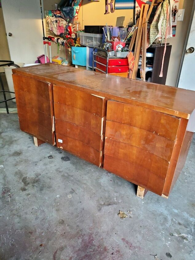 big bulky dresser given a new life