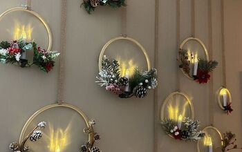 Christmas Wall Decor With LED Candles