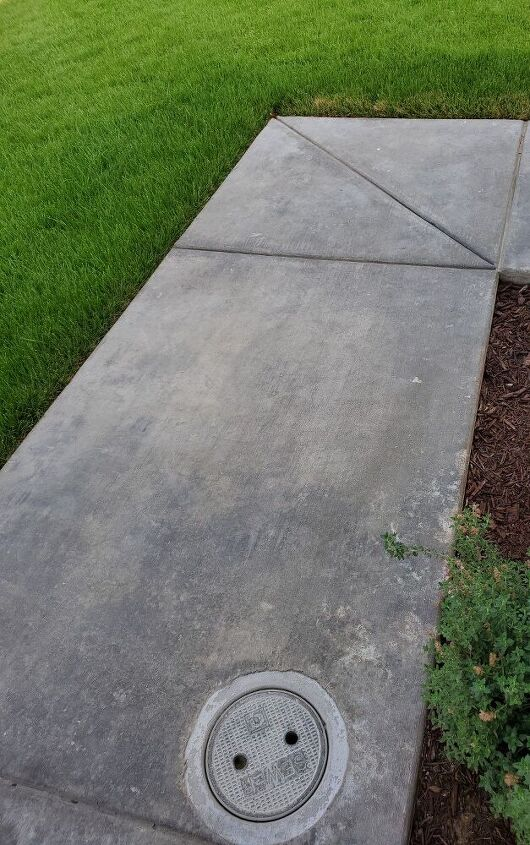 q after almost 2 years concrete still dark color with cracks wwyd