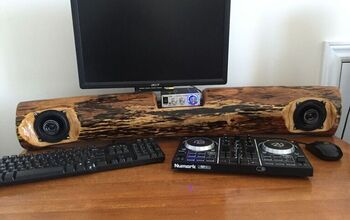 Turning and Old Log Into an Awesome Rustic Soundbar.