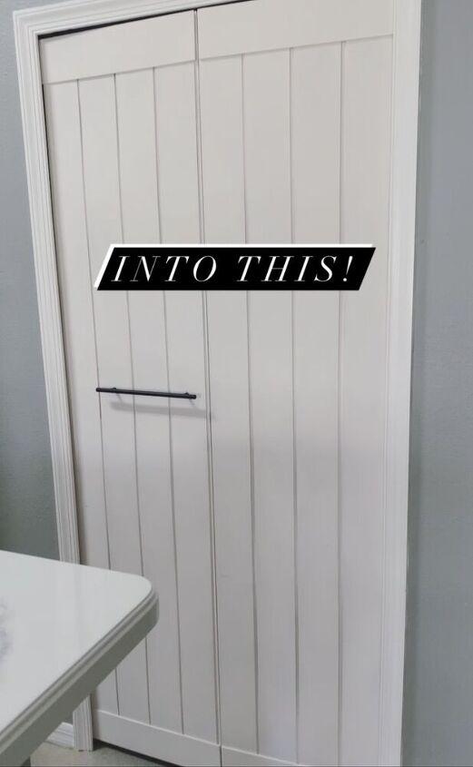 Bi Fold Door Turned Barn Door Hometalk