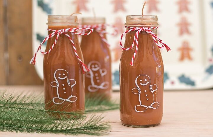 gingerbread man candles