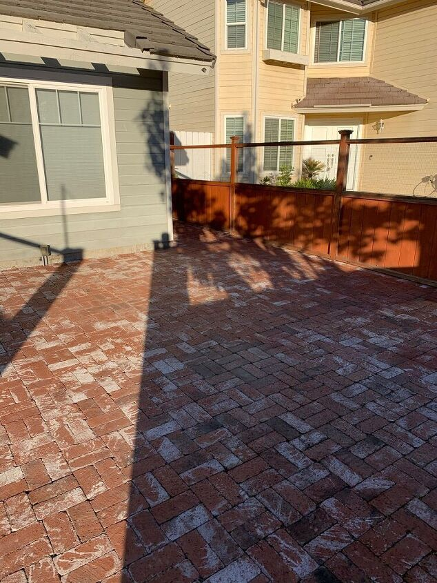 q how do i stain red brick into a darker color
