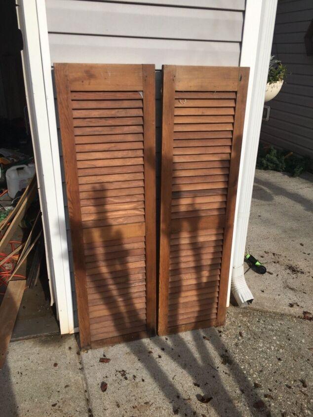 repurposed shutter christmas tree box