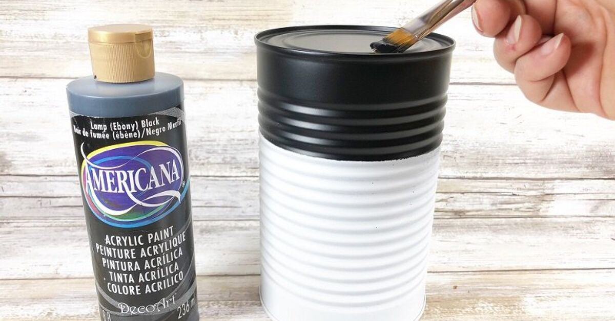 How to Make Recycled Tin Can Snowmen for...