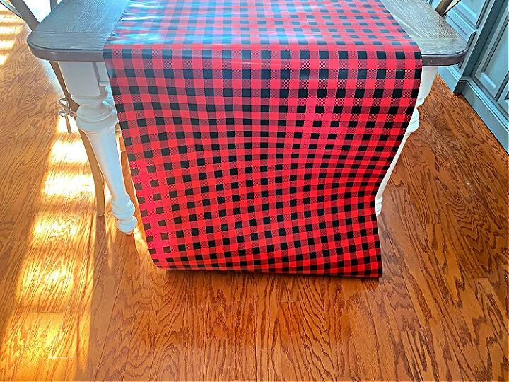 use wrapping paper for a table runner