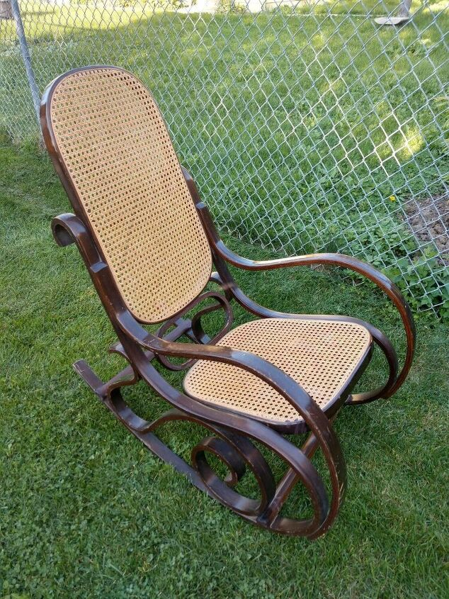 old rocking chair gets a remodel