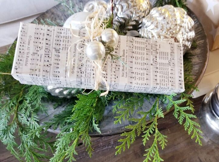 upcycle old boxed into christmas decor