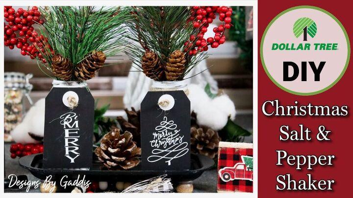 from dollar tree salt pepper shaker to farmhouse christmas decor