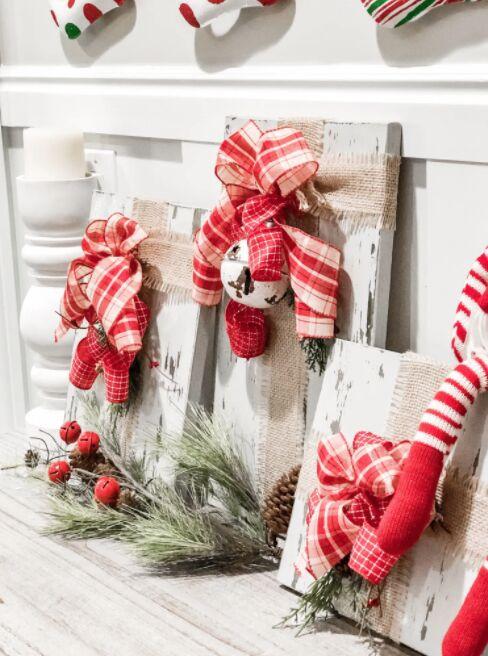 how to make wood christmas present decor