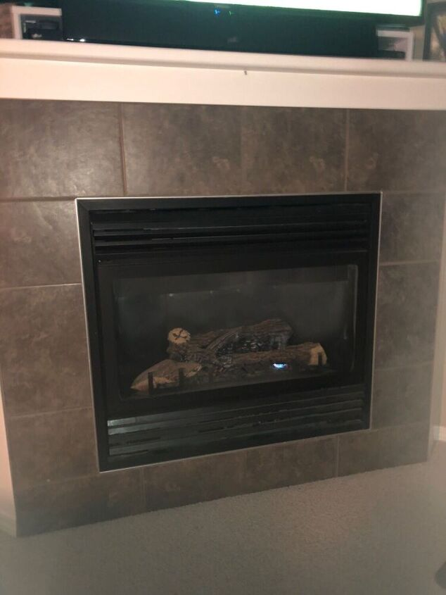q can i glue wood on the ceramic tile on my fireplace