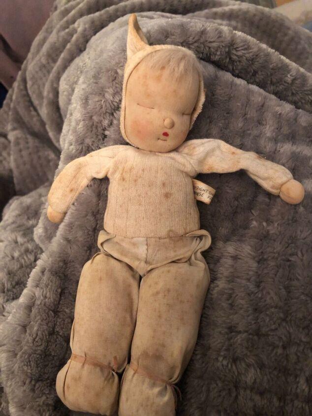 q how do i clean an antique muslin doll