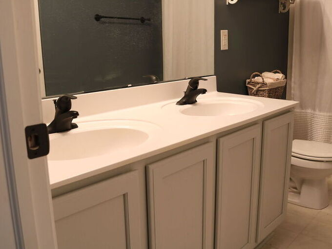 how to paint the bathroom vanity with a paint sprayer