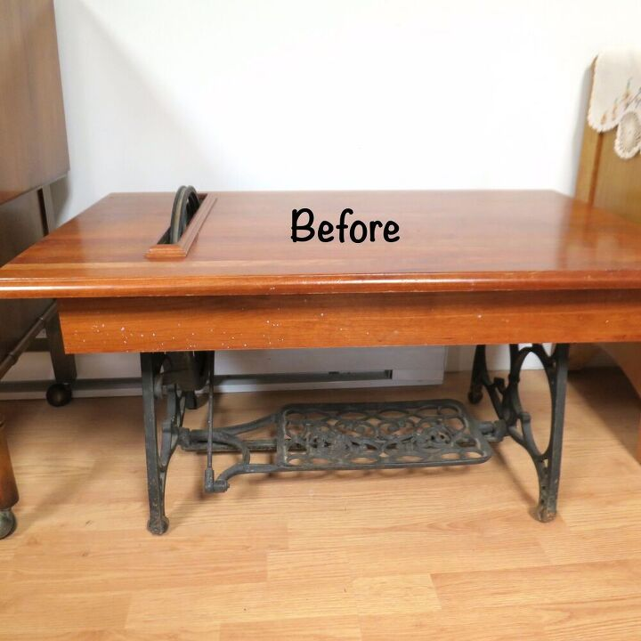 upcycled sewing base coffee table