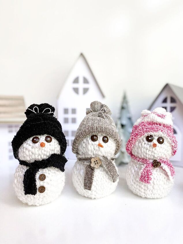 cute snowman craft for your diy christmas decor