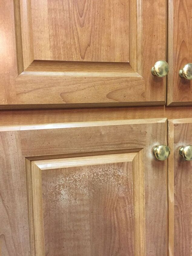 q question re gel stain for vinyl wrapped cabinet