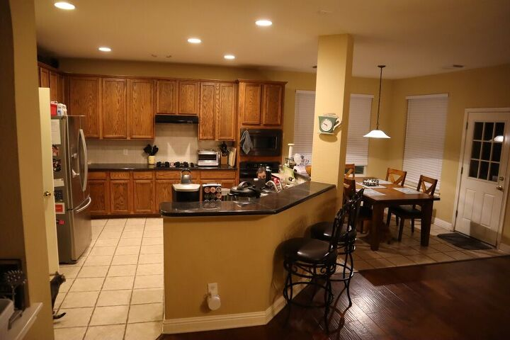 kitchen remodel creating more usable space with a new island