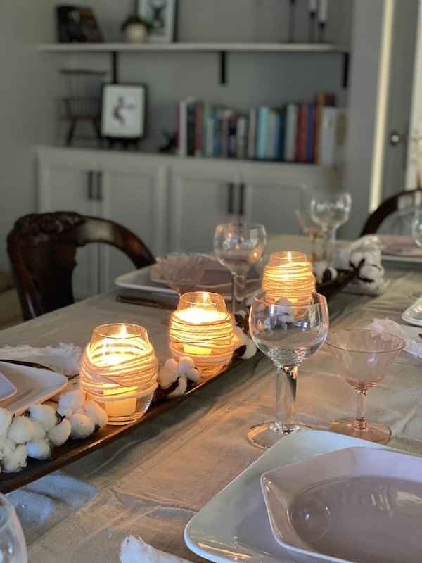 diy rustic votive candles