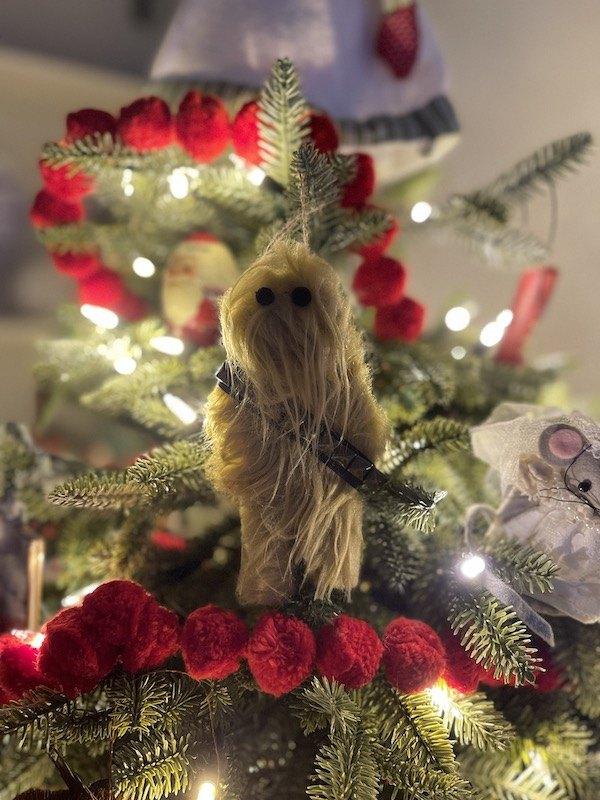 diy chewbacca ornament