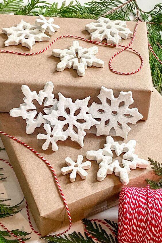 salt dough ornaments diy snowflake christmas decorations