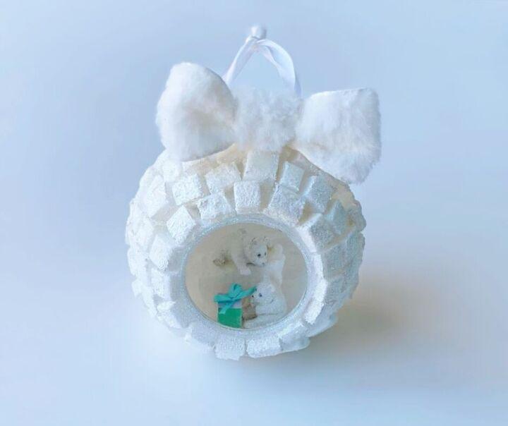 easy diorama igloo ornament