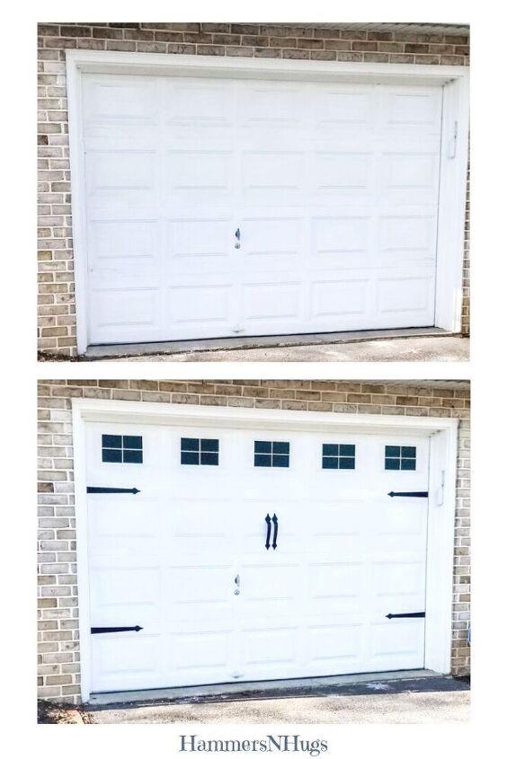 cheap diy garage door makeover